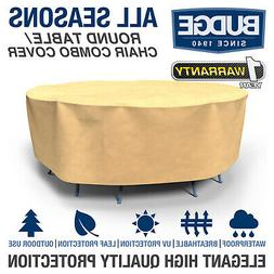Budge All-Seasons Round Patio Table and Chairs Cover | Vario