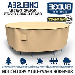 Budge Chelsea Round Waterproof Patio Table and Chair Combo C