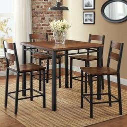 Counter Height Dining Table & Chairs Set Pub Sets Kitchen Ta