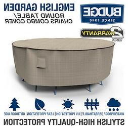 Budge English Garden Round Patio Table-Chairs Combo Cover |