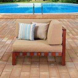 International Home Amazonia Corner Patio Chair in Brown and