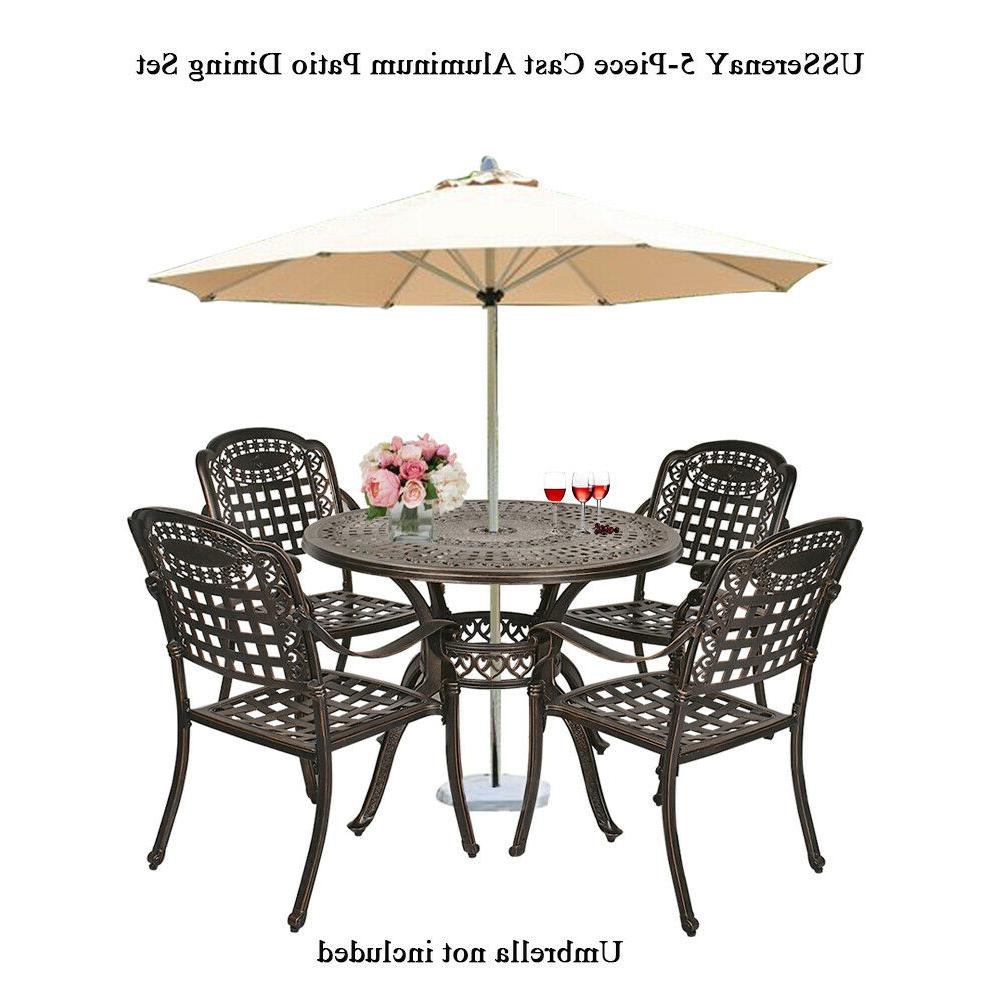 5-Piece Dining Set Table Chairs