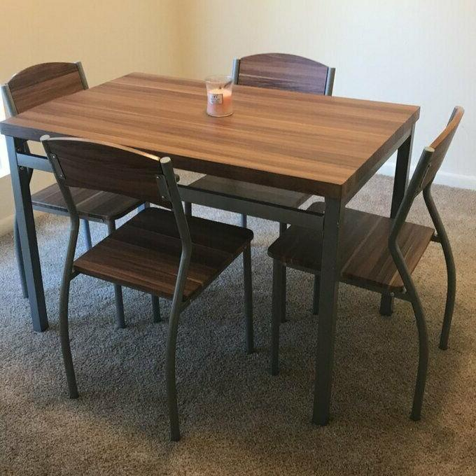 5 Kitchen Chairs Home Metal Wood Room