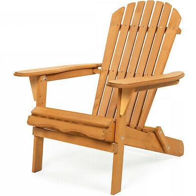 foldable wooden adirondack chair outdoor patio furniture