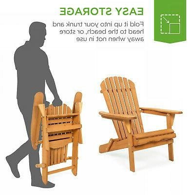 Foldable Wooden Outdoor Patio Seat Deck