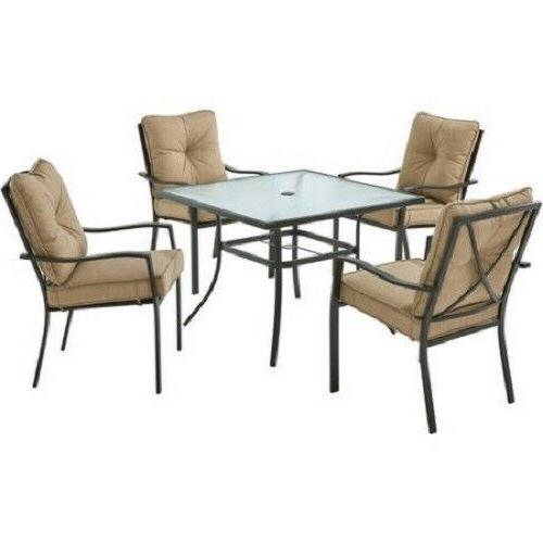 Outdoor Table Patio Sets 5 Cushions