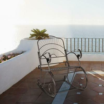 outdoor rocking chair black wrought iron porch