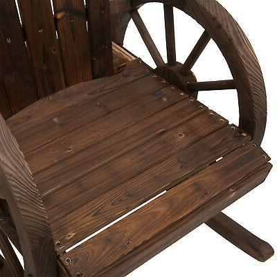 Rustic Patio Rocking Chair