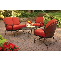 NEW 4Pc Patio Furniture Outdoor Loveseat Table Chair Cushion