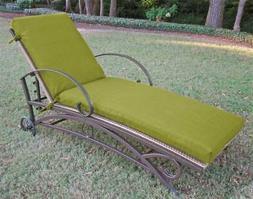 Outdoor Patio Chaise Lounge Cushion with Solid Fabric