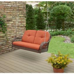 Outdoor Patio Porch Swing w Cushions All Weather Durable Stu