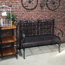 outdoor patio steel bench durable sturdy home