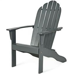 outdoor solid wood durable patio adirondack chair