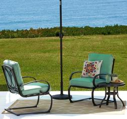 Padded Cushion 3 Piece Metal Frame Bistro Patio Set Outdoor