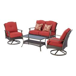Patio Furniture Set 4 Piece Outdoor Table and Chairs with So