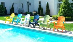 Poly Folding Adirondack Chair - Recycled Plastic- with SMART