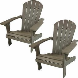 Sunnydaze All-Weather Adirondack Chair Set of 2 - Faux Wood